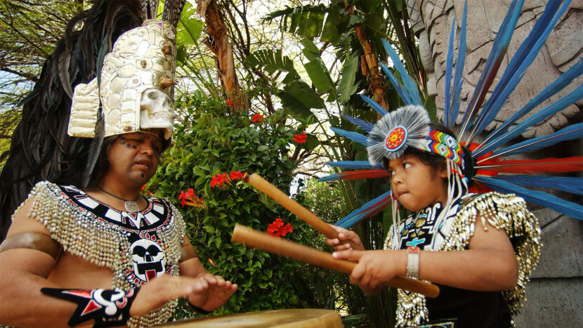 Aztec drumming, Cinco de Mayo celebration, California