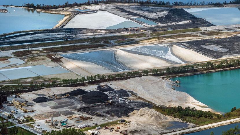 Sutton Power Plant coal ash spill