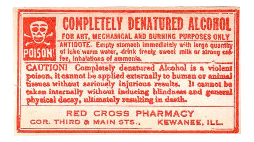 Denatured alcohol