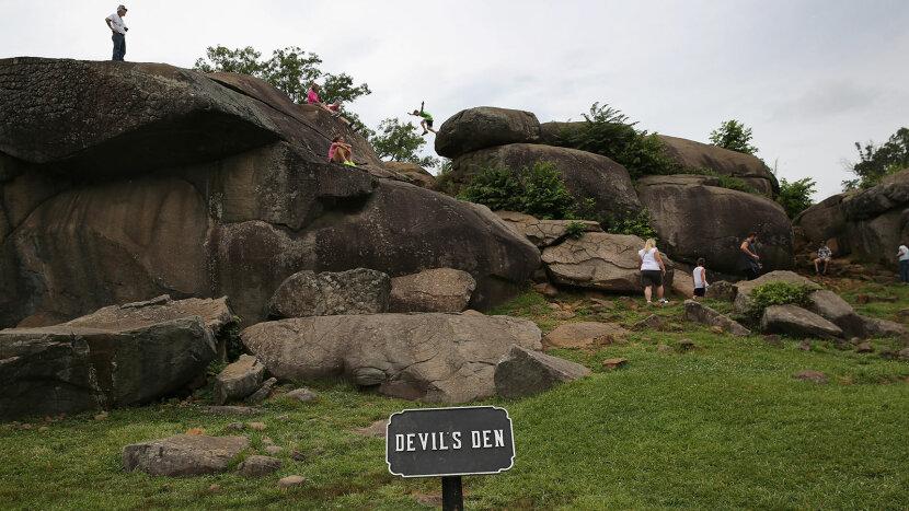 Devil's Den boulder