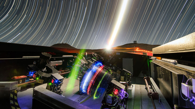 Long-exposure view of the Next-Generation Transit Survey,