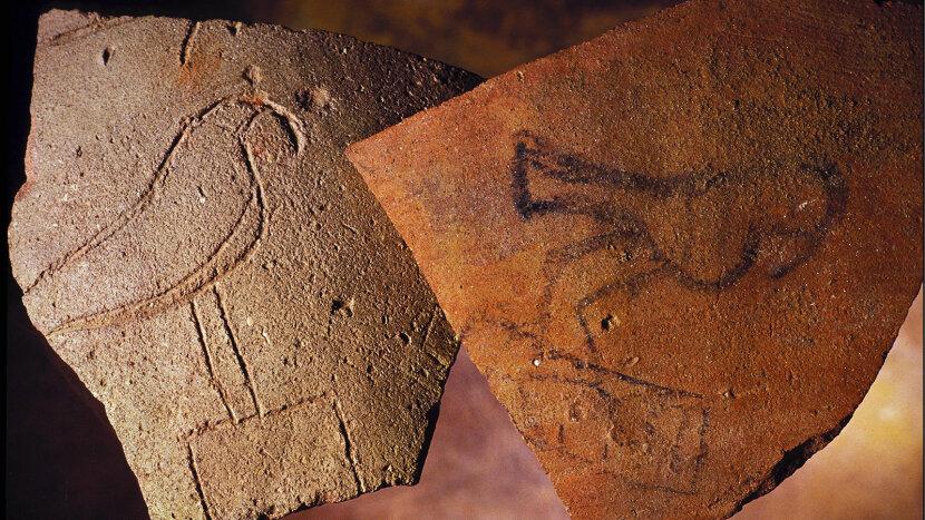 ancient pottery, Horus