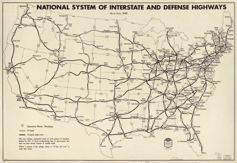 u.s. highway system in 1958