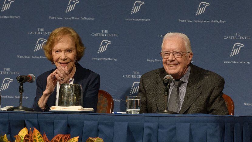 President Jimmy Carter and former First Lady Rosalynn Carter