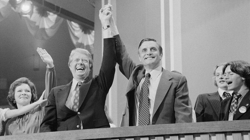 Jimmy Carter and Walter Mondale