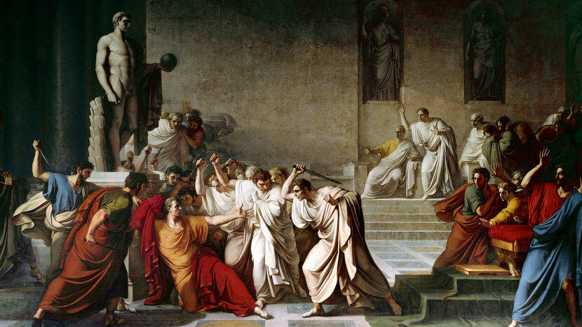 death of Julius Caesar painting