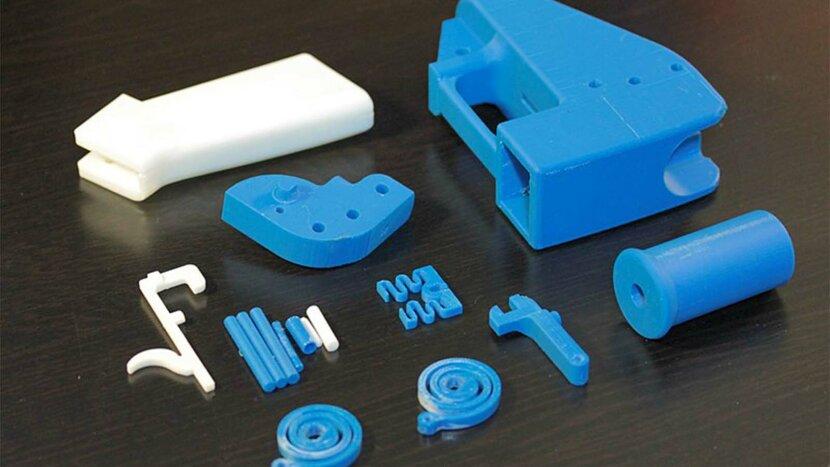 3D-printable, gun