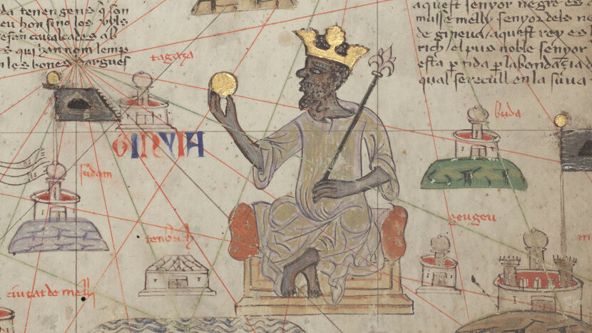 Catalan Atlas Sheet 6 showing Mansa Musa
