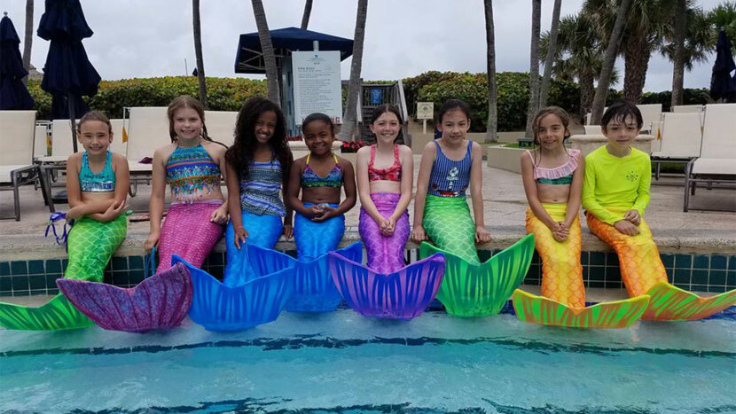kids, mermaid class,  AquaMermaid in South Florida