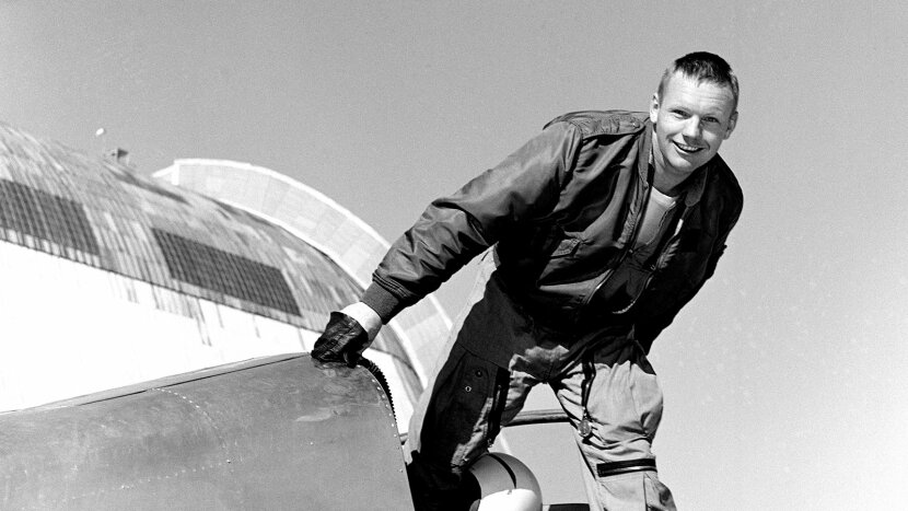 Neil Armstrong, cockpit of plane