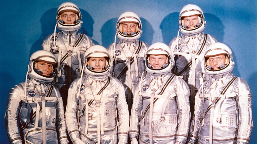 Image result for Glenn, a decorated combat pilot and experienced test pilot was among the first seven astronauts chosen by NASA.