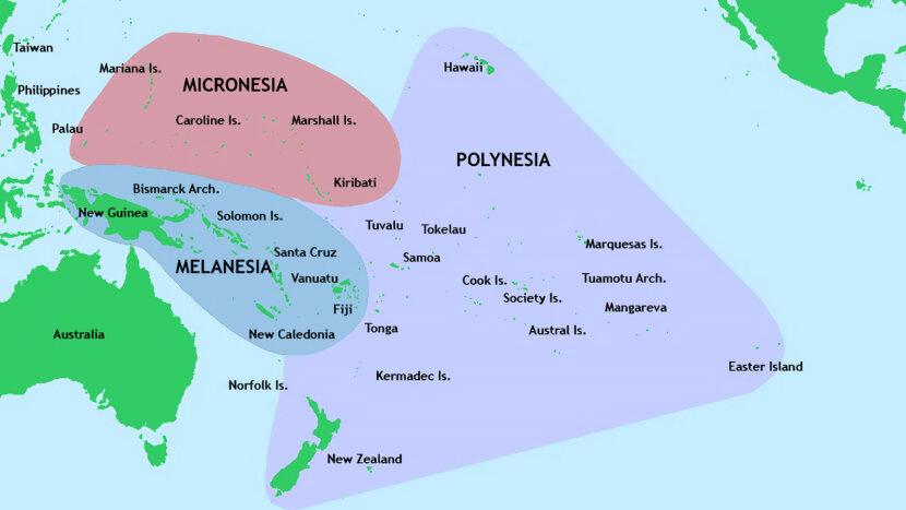Australia, Melanesia, Micronesia and Polynesia
