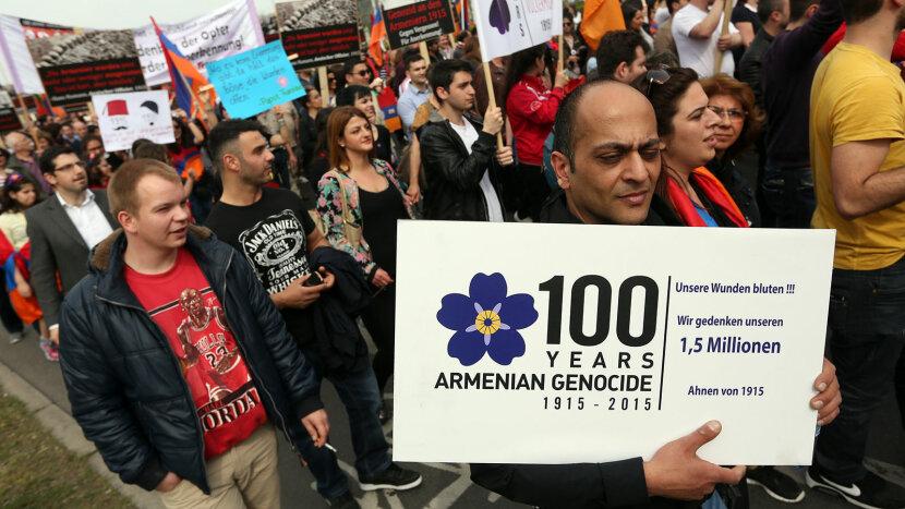 Armenian genocide demonstration