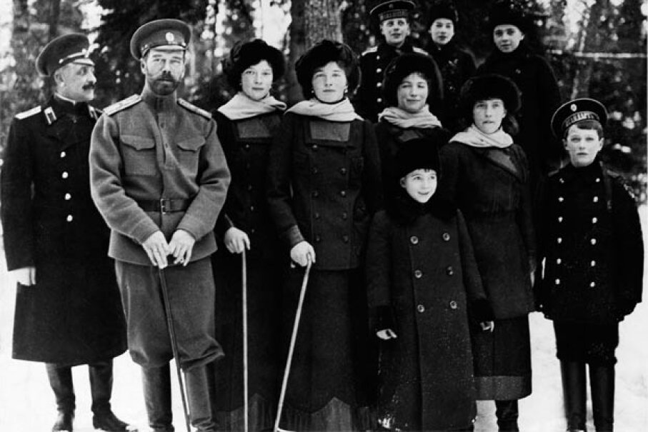 Czar Nicholas II and his family in 1917, right around the time of his abdication © Hulton-Deutsch Collection/CORBIS