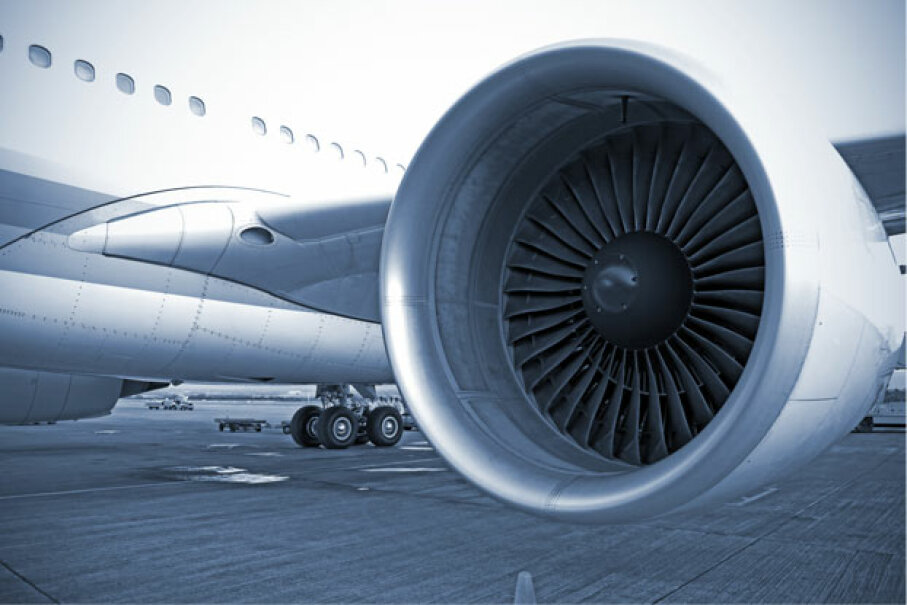 A modern aircraft engine waits for orders at an airport. What would Frank Whittle make of that! iStockphoto/Thinkstock