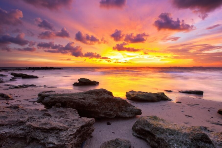 A nice sunset can enhance pretty much any view. See more paradise pictures. iStockphoto/Thinkstock