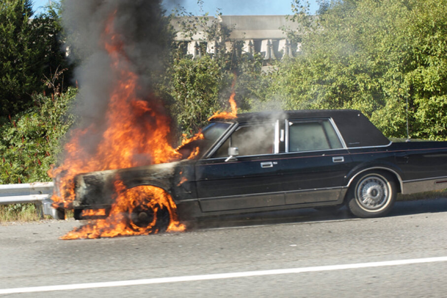 The National Fire Protection Association (NFPA) says that vehicle fires account for about 20 percent of all reported fires, so it's worth knowing how to reduce some of the risk in your own car or truck. (Creative Commons/Flickr/qwrrty)