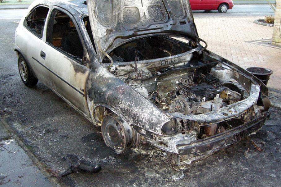 Spilled or leaking fluids under the hood of your car or truck could result in a fire. (Creative Commons/Flickr/David365)