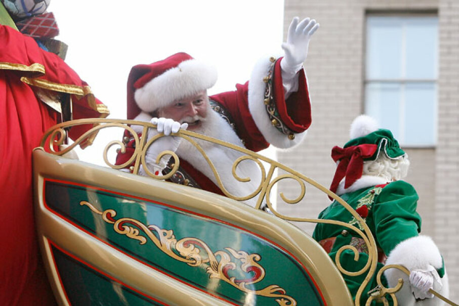 Santa Claus is a complex man -- but probably not three men. Mike Lawrie/Getty Images