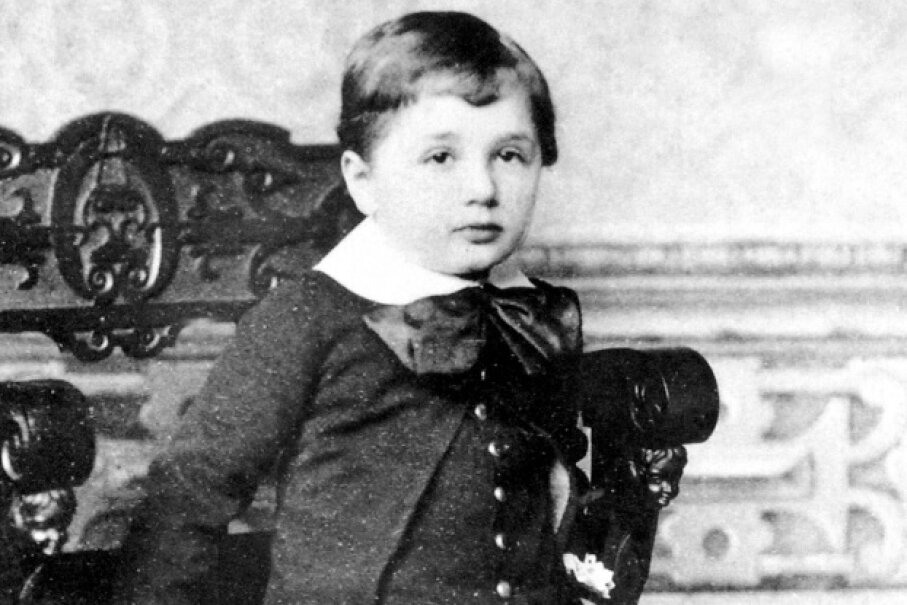 Einstein at age 3 Apic/Getty Images