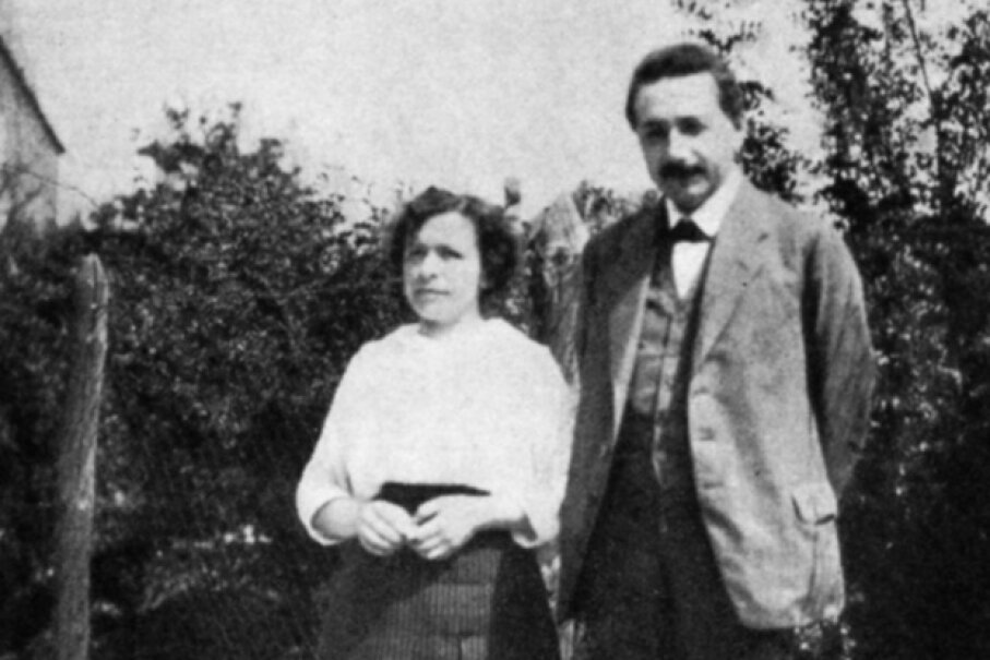 He was 17 and she was almost 21, but despite the difference in age and world experience, Albert Einstein and Mileva Marić fell very much in love. The two are pictured here on Jan. 1, 1905. Ann Ronan Pictures/Print Collector/Getty Images