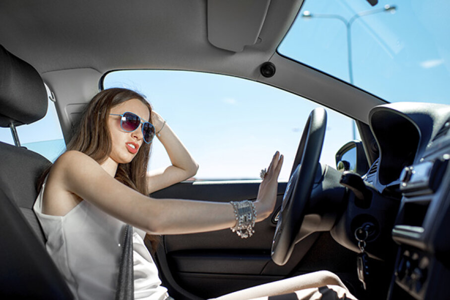 Lay off the horn, lady. That unnecessary road rage could kill you. RossHelen/iStock/Thinkstock