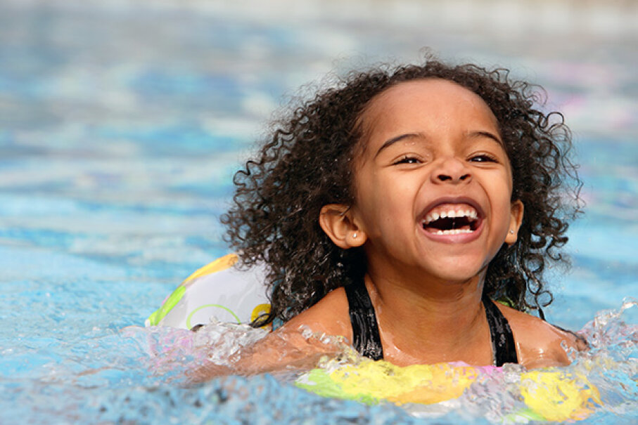 Make sure she stays happy and healthy this summer. Follow a few simple rules for maintaining a sanitary pool. Miroslav Ferkuniak/iStock/Thinkstock