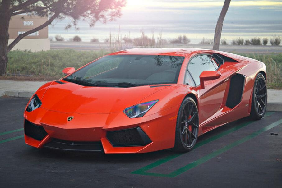 With a top-speed of 217 miles per hour (349.2 kilometers per hour), the Lamborghini Aventador is fast -- but not fast enough to make our list. (Creative Commons/Flickr/Axion23)