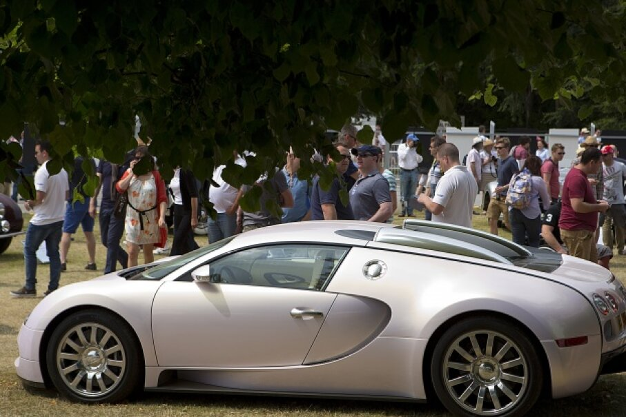 At the time of publication, the Bugatti Veyron 16.4 Super Sport actually held the Guinness title of fastest production car, at least for a while. You're looking at a Bugatti Veyron EB 16.4. © Michael Cole/Corbis