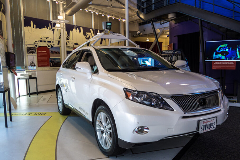 Google's self-driving car Don DeBold, Used under CC BY 2.0 license