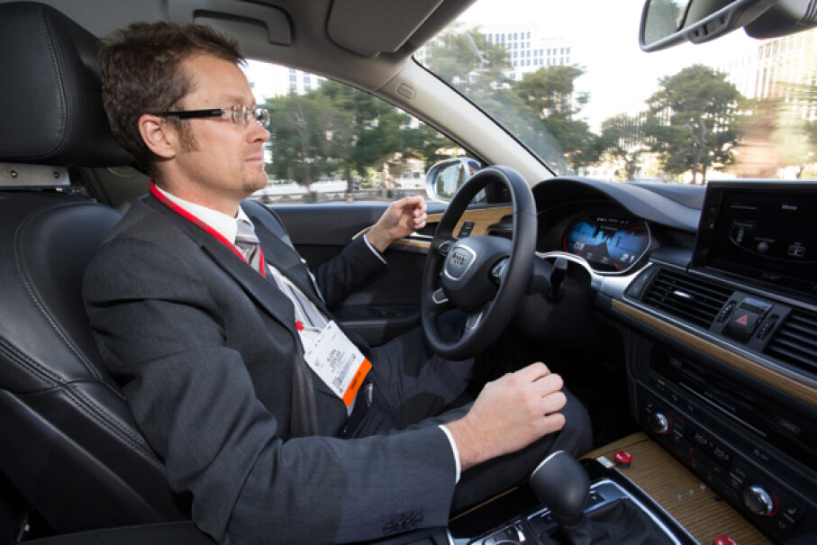 Audi demonstrated its Piloted Parking system at the 2013 Consumer Electronics Show in Las Vegas, Nevada. Image courtesy of Audi of America