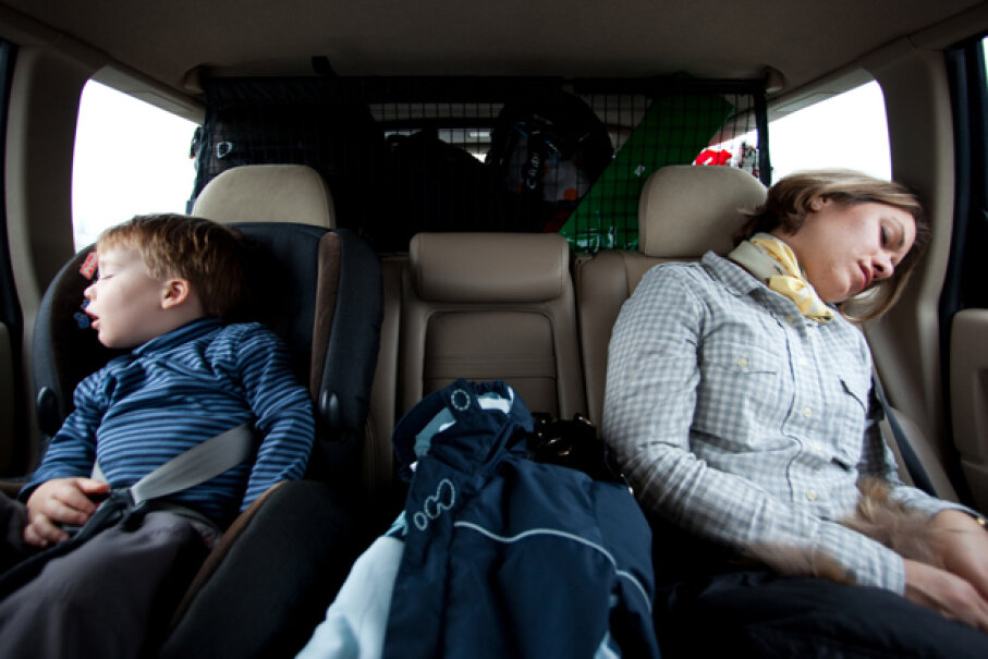If you don't have to drive, there's plenty of time for a nap, a meal or even a movie while you're on the road. Lars Plougmann, Used under CC BY-SA 2.0 license