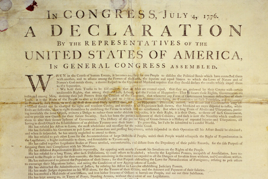 Not everyone was over the moon about the Declaration of Independence. Lemuel Haynes, among others, voiced substantial criticism of the document and its failure to include freedom for all people. Image of the Dunlap Broadside Declaration of Independence courtesy of the U.S. National Archives