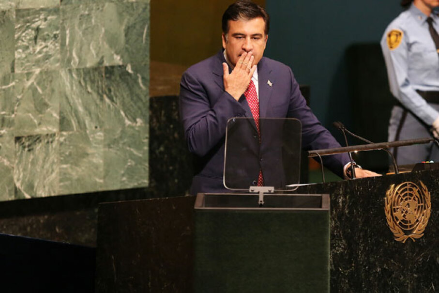 A 2008 Imedi broadcast stating that Georgia's leader Mikheil Saakashvili had been assassinated sent citizens pouring into the streets in a panic. Spencer Platt/Getty Images News/Getty Images