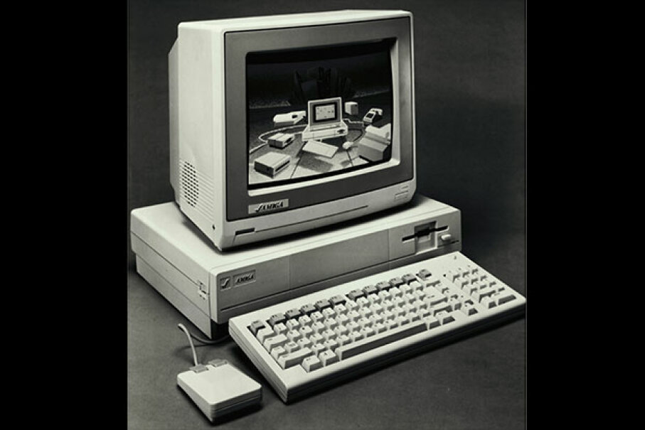 The Amiga computer offered high speeds and quality graphics at an affordable price. © Bettmann/CORBIS