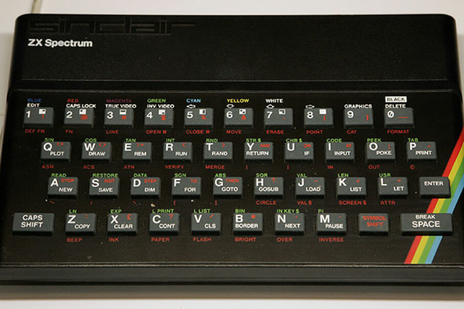 A Sinclair ZX Spectrum computer on display at the Science Museum in London, 2006.  Getty Images