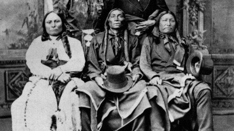 Sitting Bull, Swift Bear and Spotted Tail
