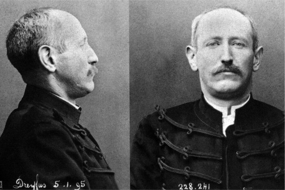 A stoic Dreyfus faces the camera at the time of his dishonorable discharge. Dreyfus, of course, would later be pardoned and proclaimed innocent, but not before his case bitterly divided France for years. Apic/Hulton Archive/Getty Images