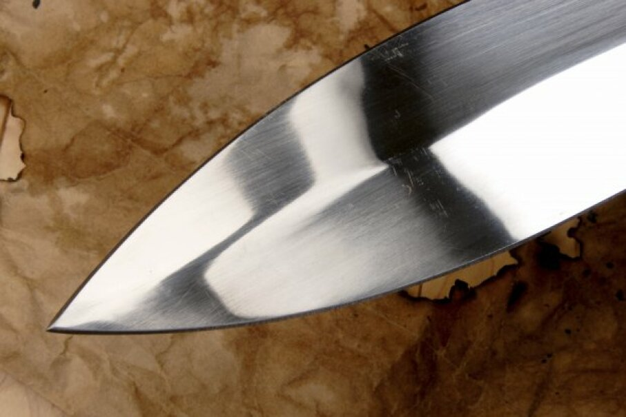The early days of the blade weren't quite as polished as this knife. iStock/Thinkstock