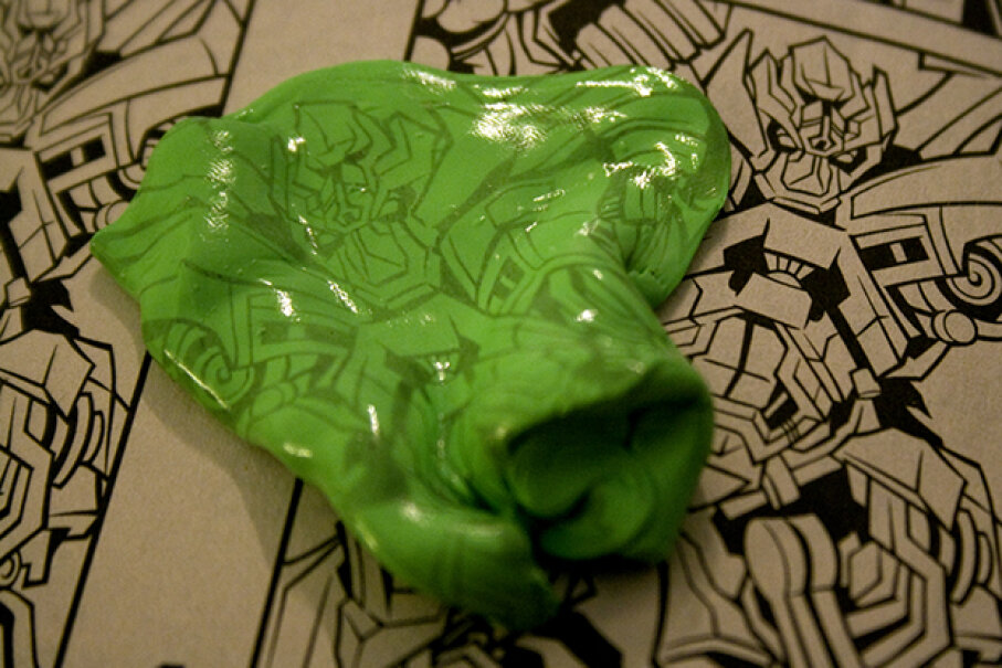 Ah, the simple joys of transferring newsprint onto that squishy putty. Image courtesy pyxopotamus, used under Creative Commons Attribution-NoDerivs 2.0 Generic License