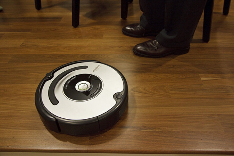 The Roomba is a vacuum cleaner robot from a company that designs some serious hardware. © James Leynse/Corbis