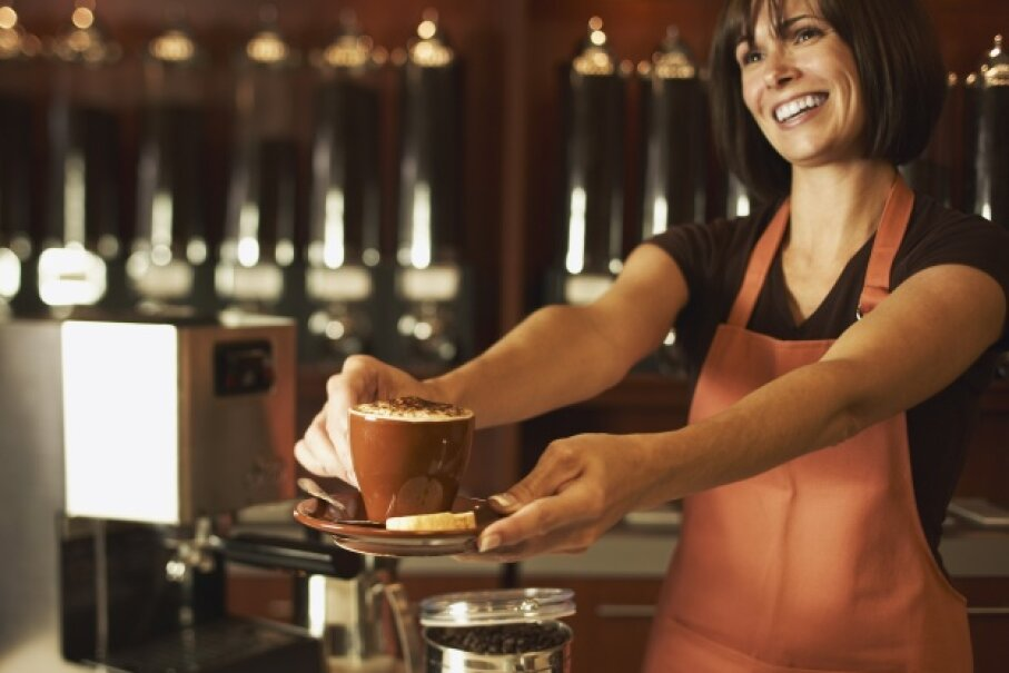 Baristas have a lot of skills. From pulling espresso shots to grinding beans and more, this job will definitely let you home in on your creativity. Jupiterimages/Thinkstock
