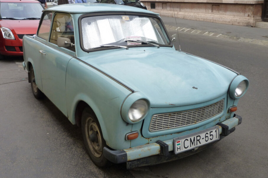 The Trabant had body panels made of Duroplast, and the engine smoked like it was electing a new pope.