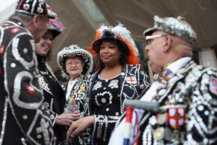 Pearly Kings and Queens celebrate their annual Harvest Festival in London, England. li Scarff/Getty Images