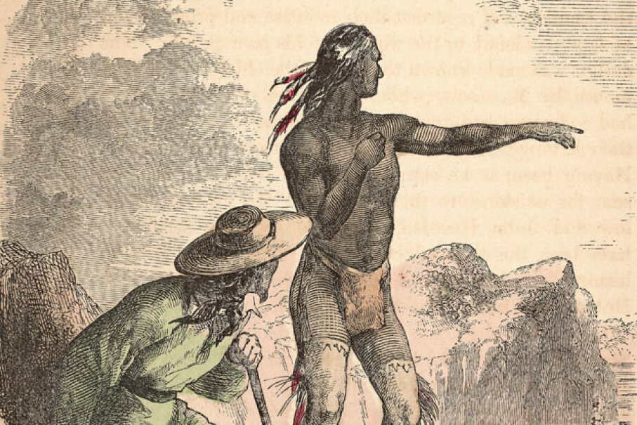 Squanto served as guide and interpreter for the Pilgrims and Chief Massasoit. He died from smallpox just a year and a half after the famous Thanksgiving feast. Kean Collection/Getty Images