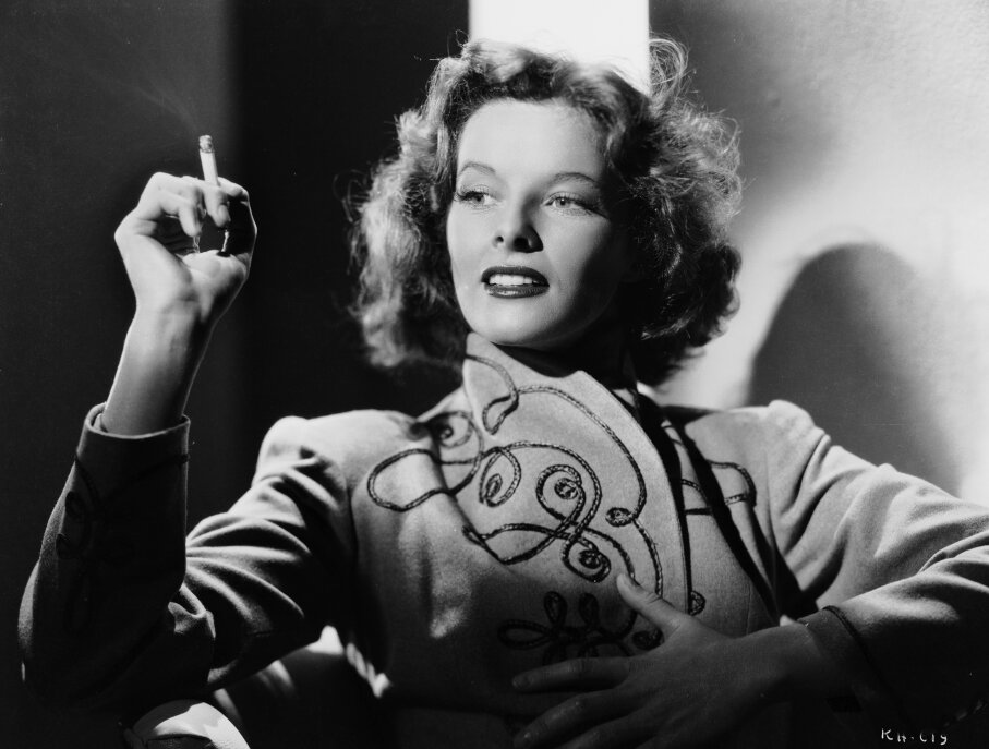Actress Katharine Hepburn takes a cigarette break in 1935, back when smoking was considered sexy. Ernest Bachrach/John Kobal Foundation/Getty Images