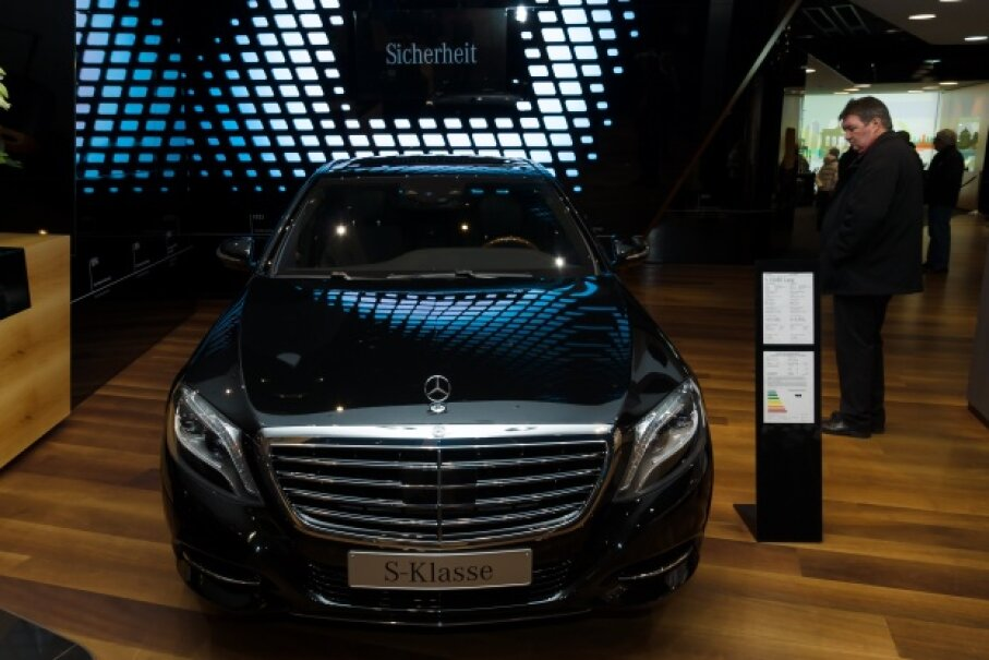 Mercedes' ultra-fancy S-Class vehicles got a little more robotic in 2013. © Sergey Kohl/Demotix/Corbis