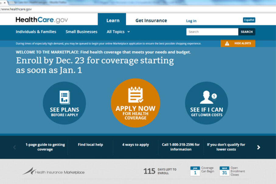 Was there ever a Web site that got more scrutiny? Screenshot of HealthCare.gov Web site by HowStuffWorks