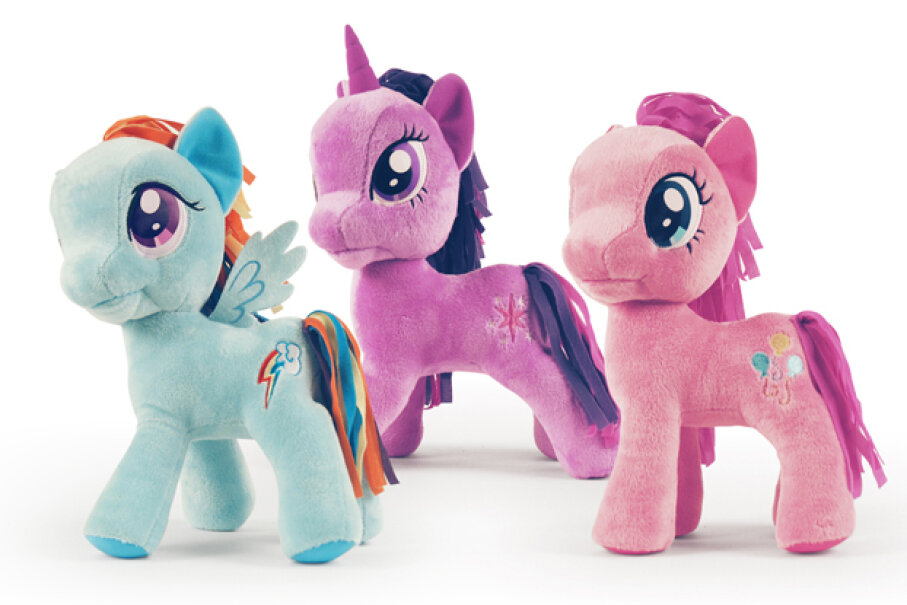 The contemporary line of My Little Pony updates the classic toy with more exaggerated features. Courtesy Funrise