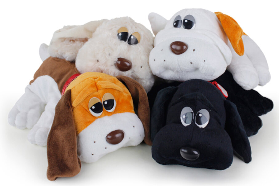 Sad-eyed plush dogs sold millions in the '80s, and inspired cartoon series and other pop-culture ephemera. Courtesy Funrise